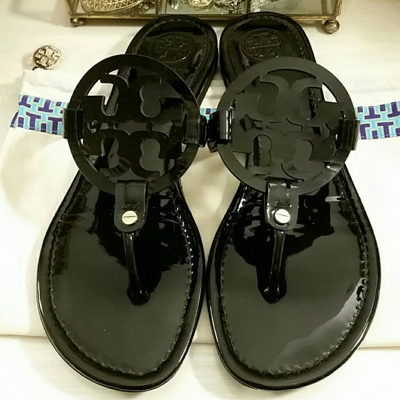 bd1bc7e03 Tory Burch Shoes - Tory Burch Miller Sandals in Black Patent Leather